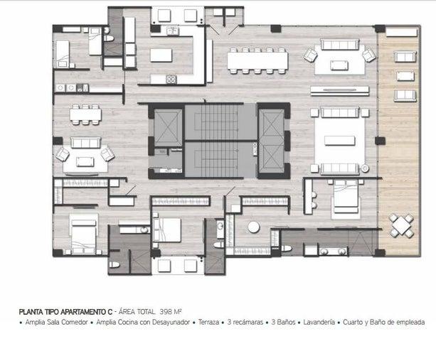 PANAMA VIP10, S.A. Apartamento en Venta en San Francisco en Panama Código: 16-3486 No.5
