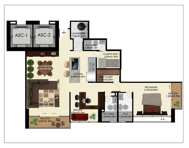 PANAMA VIP10, S.A. Apartamento en Venta en Bellavista en Panama Código: 17-176 No.7