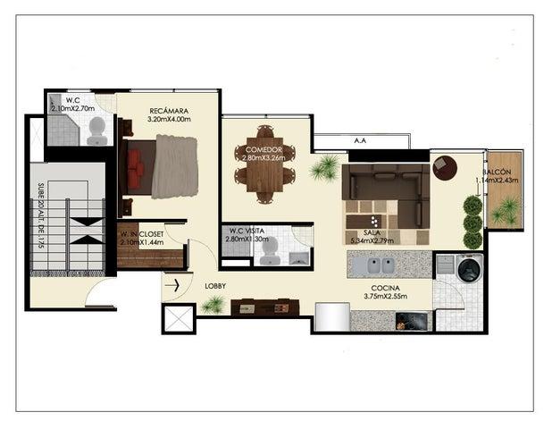 PANAMA VIP10, S.A. Apartamento en Venta en Bellavista en Panama Código: 17-178 No.9