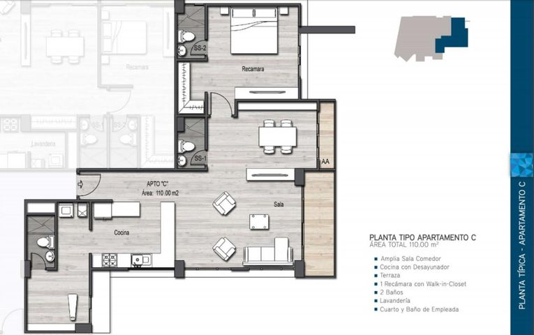 PANAMA VIP10, S.A. Apartamento en Venta en Parque Lefevre en Panama Código: 17-412 No.4