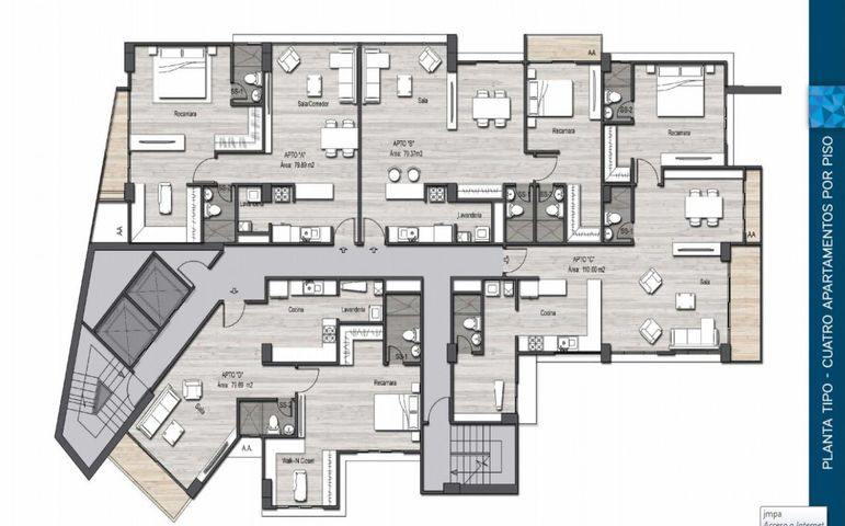 PANAMA VIP10, S.A. Apartamento en Venta en Parque Lefevre en Panama Código: 17-412 No.6