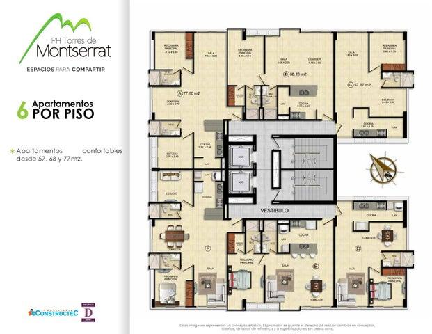PANAMA VIP10, S.A. Apartamento en Venta en 12 de Octubre en Panama Código: 17-601 No.5