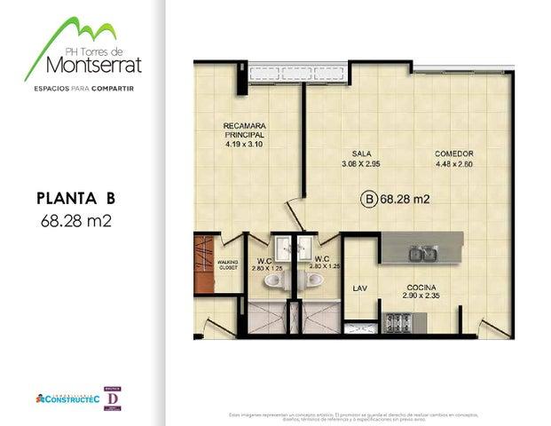 PANAMA VIP10, S.A. Apartamento en Venta en 12 de Octubre en Panama Código: 17-601 No.7