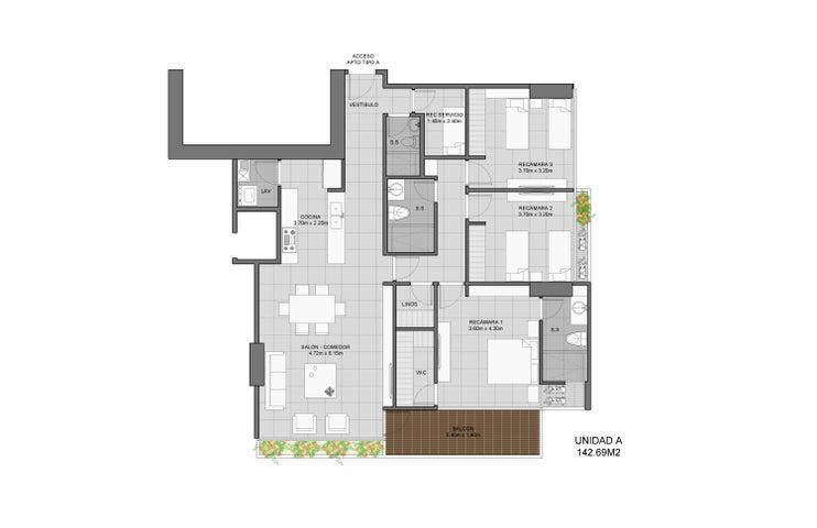 PANAMA VIP10, S.A. Apartamento en Venta en Coco del Mar en Panama Código: 17-744 No.6