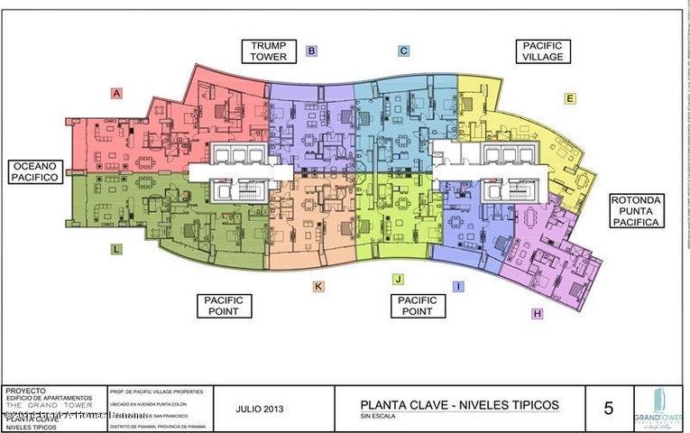 PANAMA VIP10, S.A. Apartamento en Alquiler en Punta Pacifica en Panama Código: 17-1097 No.1