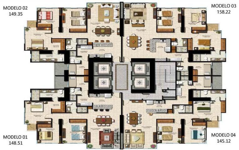 PANAMA VIP10, S.A. Apartamento en Venta en Costa del Este en Panama Código: 17-2006 No.2