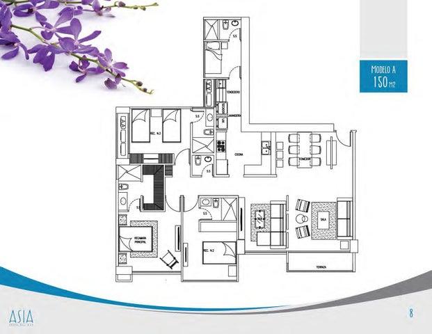 PANAMA VIP10, S.A. Apartamento en Venta en Costa del Este en Panama Código: 17-2350 No.9