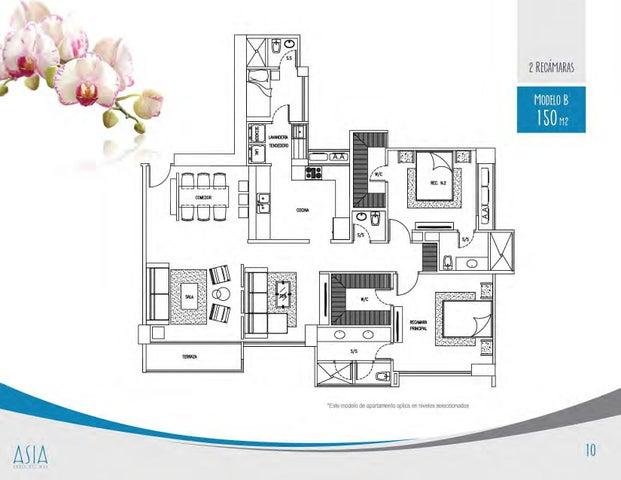 PANAMA VIP10, S.A. Apartamento en Venta en Costa del Este en Panama Código: 17-2360 No.9
