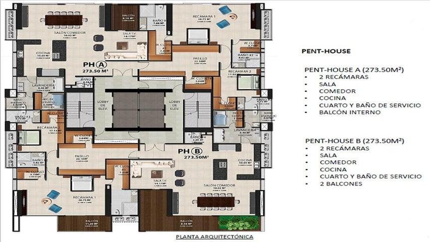 PANAMA VIP10, S.A. Apartamento en Venta en Obarrio en Panama Código: 17-2834 No.2
