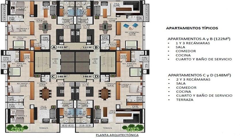 PANAMA VIP10, S.A. Apartamento en Venta en Obarrio en Panama Código: 17-2834 No.3