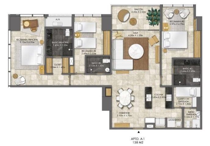 PANAMA VIP10, S.A. Apartamento en Venta en Bellavista en Panama Código: 18-3456 No.6