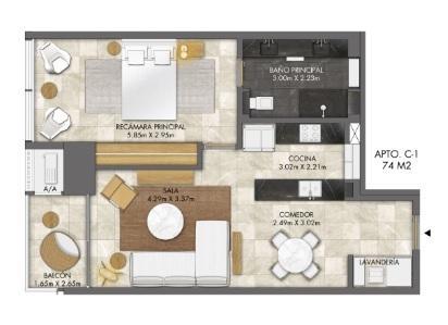 PANAMA VIP10, S.A. Apartamento en Venta en Bellavista en Panama Código: 18-3456 No.7
