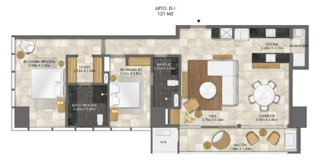 PANAMA VIP10, S.A. Apartamento en Venta en Bellavista en Panama Código: 18-3458 No.9