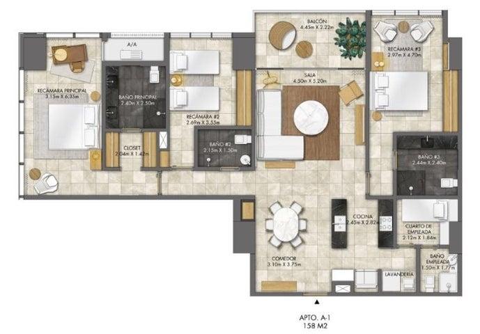 PANAMA VIP10, S.A. Apartamento en Venta en Bellavista en Panama Código: 18-3459 No.8