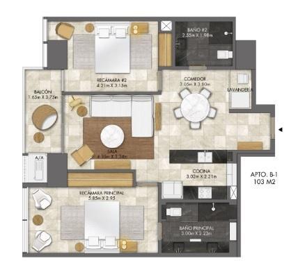 PANAMA VIP10, S.A. Apartamento en Venta en Bellavista en Panama Código: 18-3459 No.9