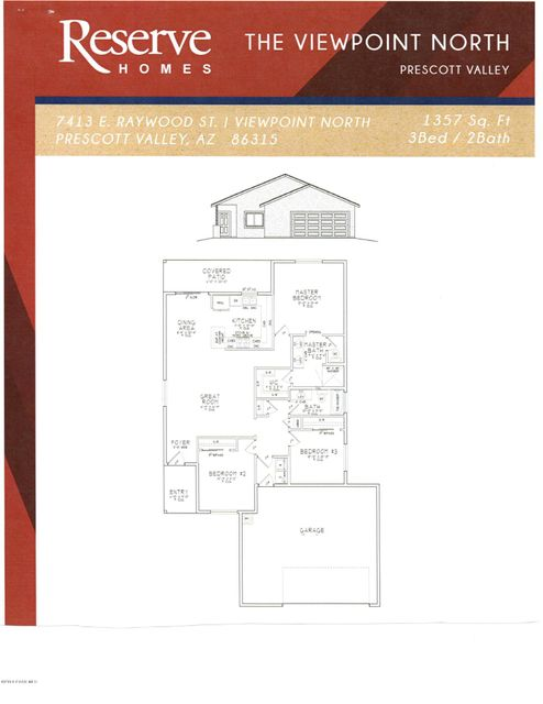 MLS 995149 7413 Raywood Street Building 7413, Prescott Valley, AZ Prescott Valley AZ Newly Built