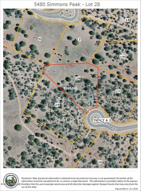 5480 W Simmons Peak Road Prescott, AZ 86305 - MLS #: 997269