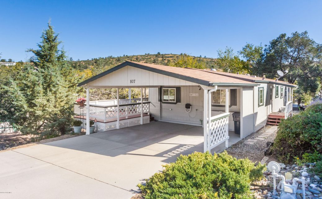 MLS 998985 807 Prescott Canyon Drive Building 807, Prescott, AZ Prescott AZ Manufactured Mobile Home