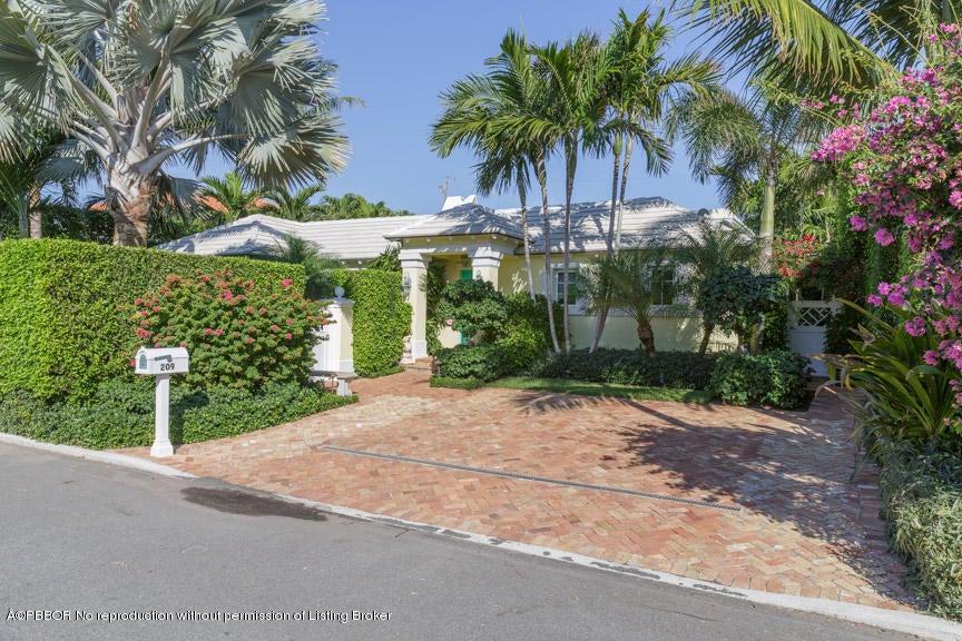 209 Angler Avenue, Palm Beach, FL 33480