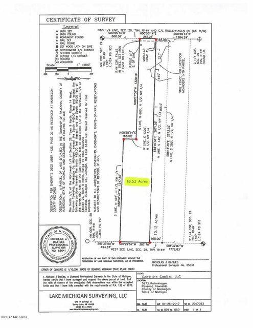 Land for Sale at 5983 Rollenhagen 5983 Rollenhagen Ravenna, Michigan 49451 United States