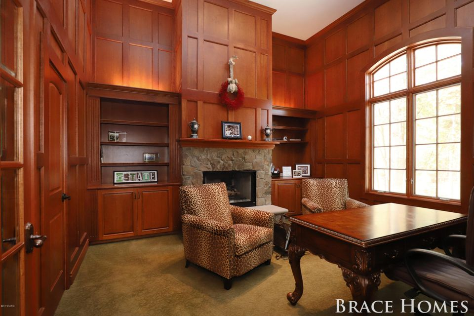 Split level kitchen dining room