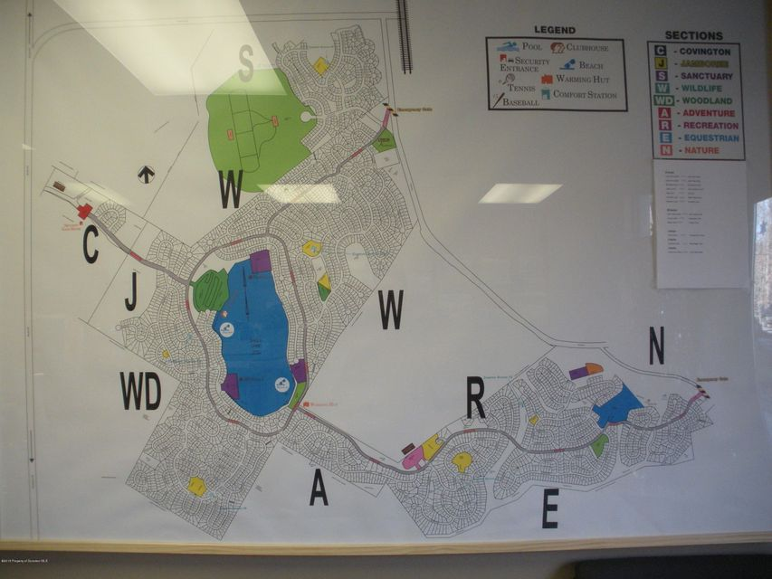Eagle Lake Map at Clubhouse Office