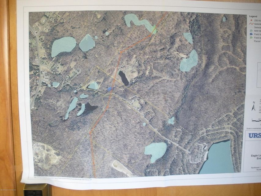 Eagle Lake Ariel Map at Clubhouse Office