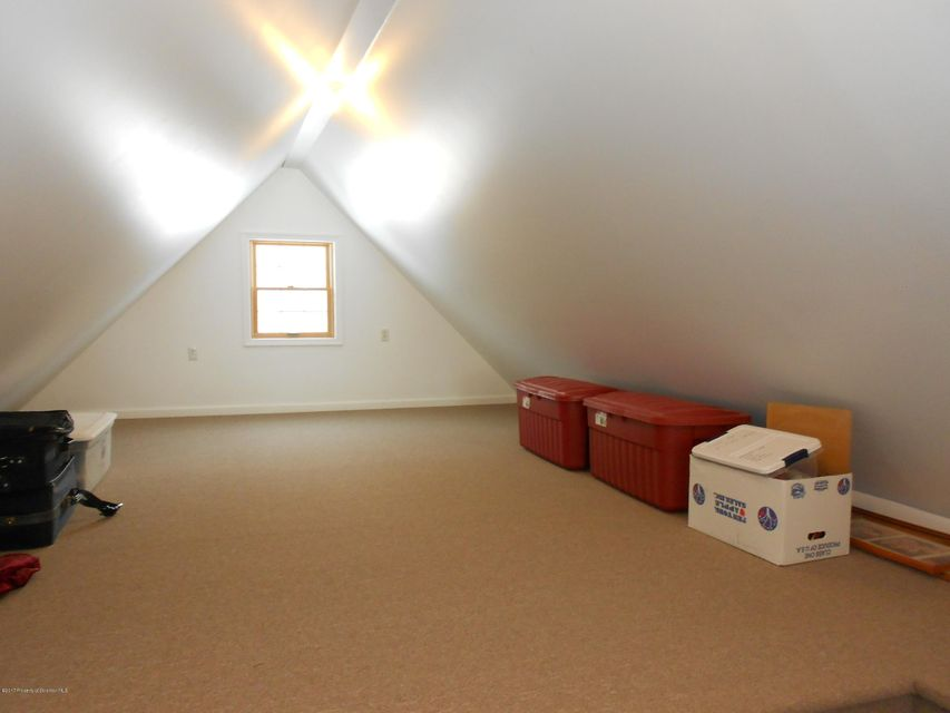 Full finished carpeted attic