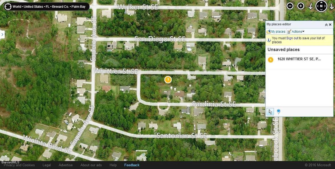Land for Sale at 1620 Whittier 1620 Whittier Palm Bay, Florida 32909 United States