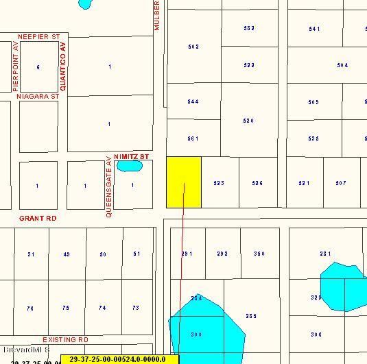 Mark för Försäljning vid Corner - Grant And Mulberry La Grant, Florida 32949 Usa