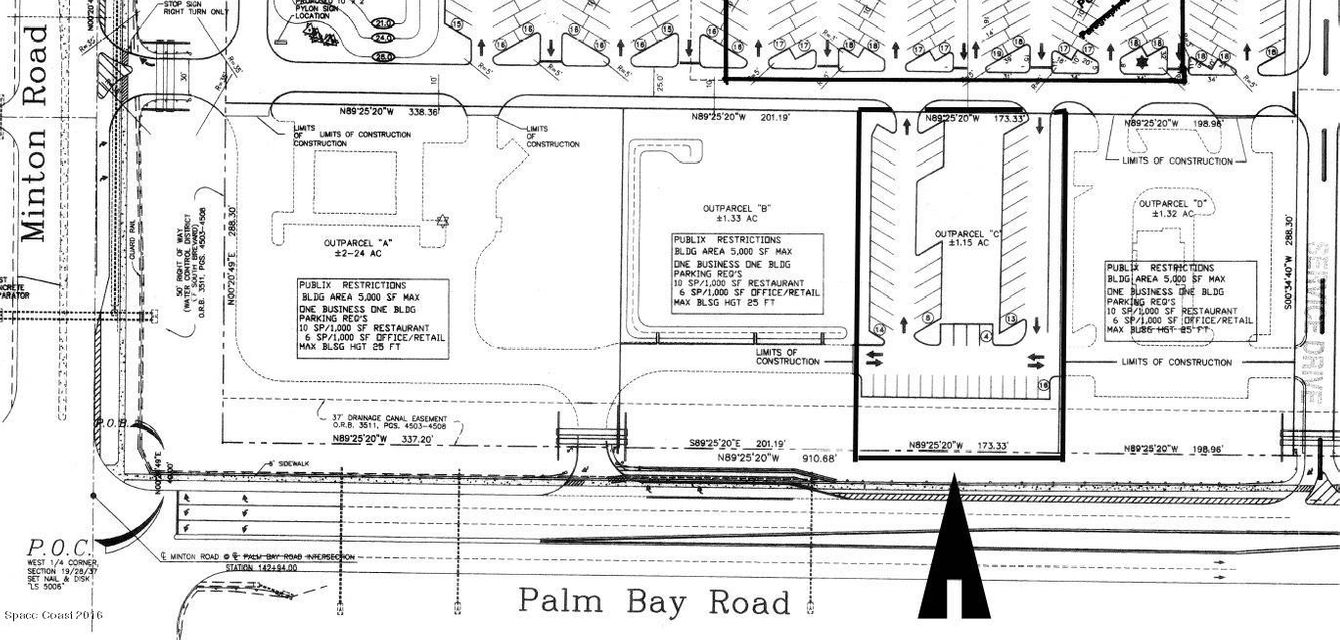 Terrain pour l Vente à 145 Palm Bay West Melbourne, Florida 32904 États-Unis
