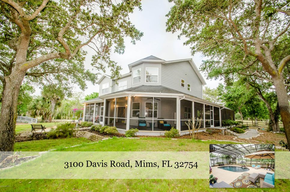 Single Family Home for Sale at 3100 Davis 3100 Davis Mims, Florida 32754 United States