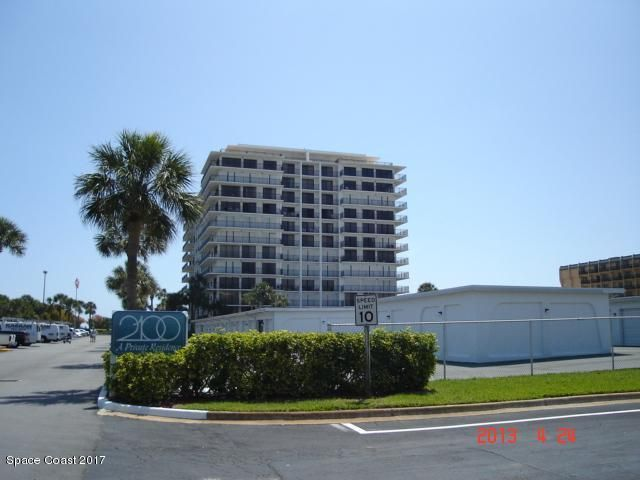 New carpet, tile, & paint.  World famous Cocoa Beach. The legendary 2100 Tower building. What is better than high rise, direct ocean, maintenance free condo living? Living direct ocean and also having Banana River views. Enjoy the Ocean to River views from your north facing balcony as you sit high above the city. This is a perfect location to watch all of the launches and cruise ships go in and out of port. Building has a large heated pool, clubhouse with exercise area, indoor spa and sauna, game room and shuffle board court. Ocean community with a garage. This is Florida lifestyle living at its finest.