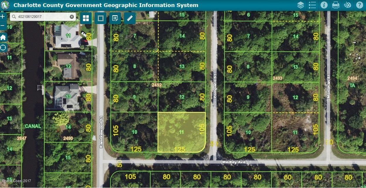 Land voor Verkoop een t 115 Pompano 115 Pompano Port Charlotte, Florida 33953 Verenigde Staten