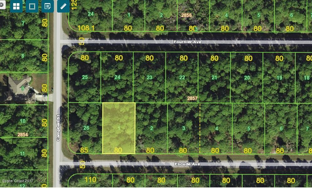 Terrain pour l Vente à 12030 Escude 12030 Escude Port Charlotte, Florida 33953 États-Unis