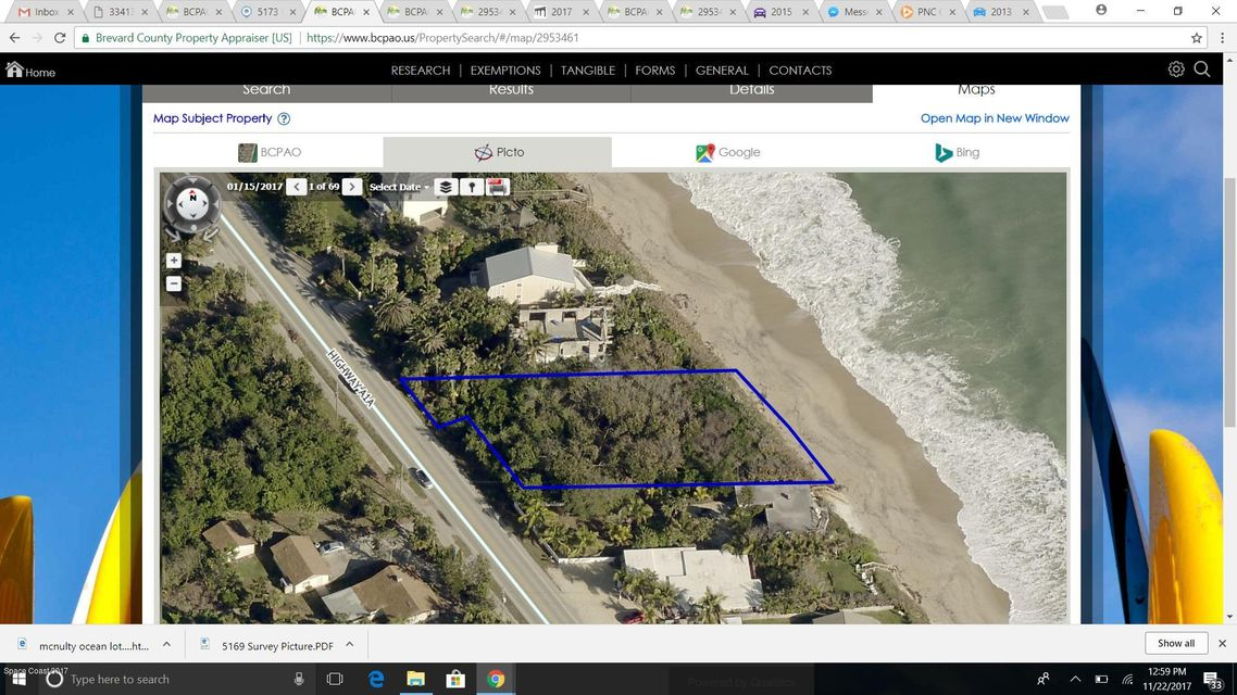 Map Of Melbourne Beach Florida.5169 Highway A1a Melbourne Beach Florida 32951 Land For Sale