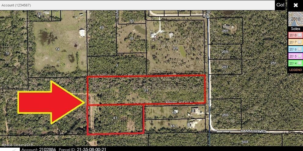 Terreno por un Venta en North Of 3030 Hammock North Of 3030 Hammock Mims, Florida 32754 Estados Unidos