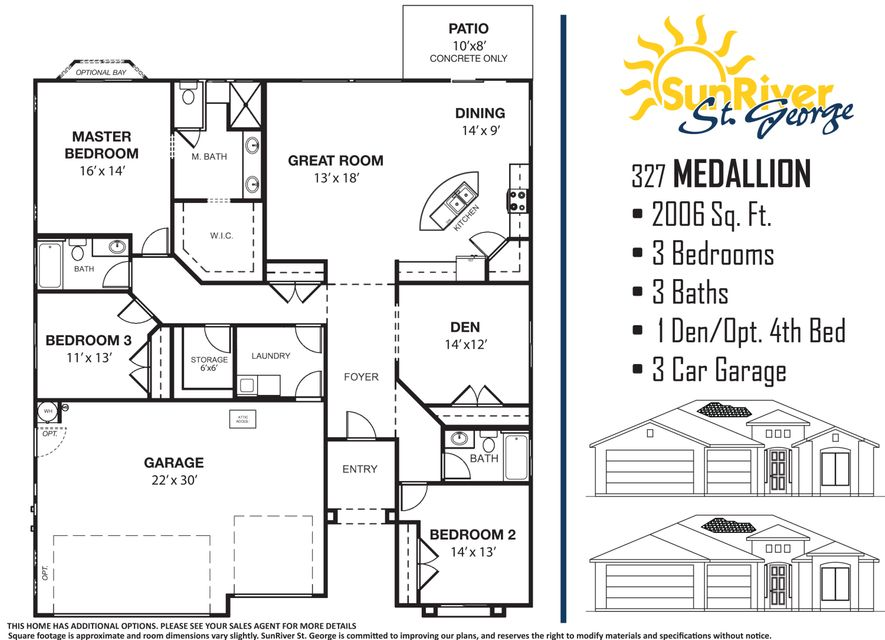 This brand new SunRiver home has all the upgrades you would expect to find, including upgraded appliances counter tops, tile floors, three tone paint and much more with over $62k in design upgrades. This home has a lot premium of $40k. Home is currently under construction with a completion date of 3/30.  Call to see how affordable this home can be with our many financing options available.