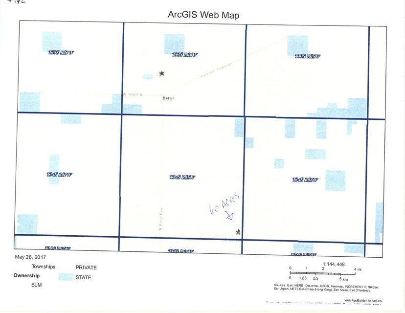 土地,用地 为 销售 在 60 acre T34S R16W 60 acre T34S R16W Beryl, 犹他州 84714 美国