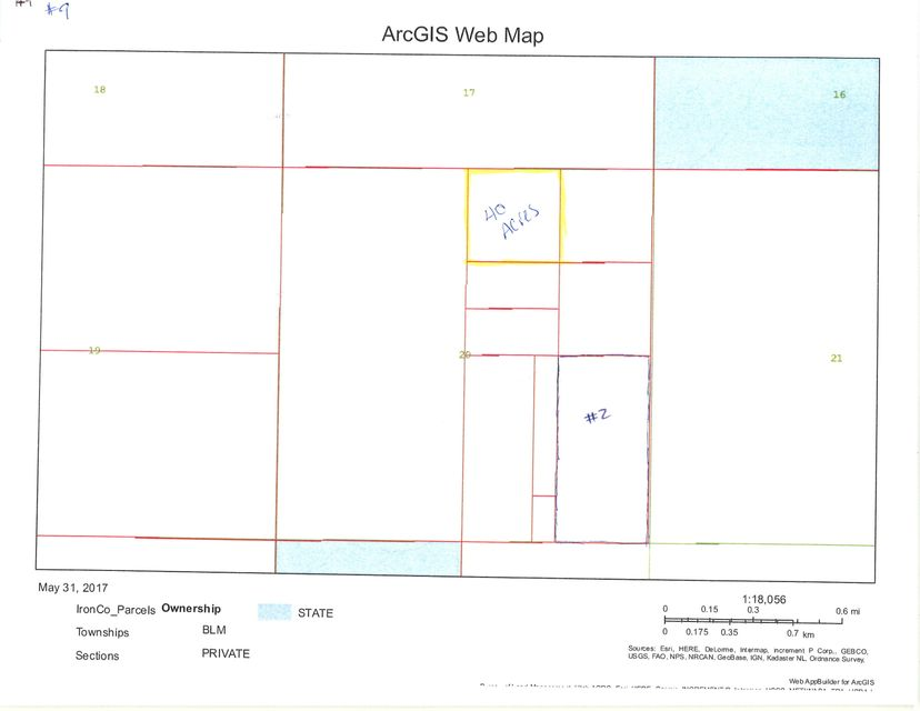 أراضي للـ Sale في 40 acre T33S R16W 40 acre T33S R16W Beryl, Utah 84714 United States