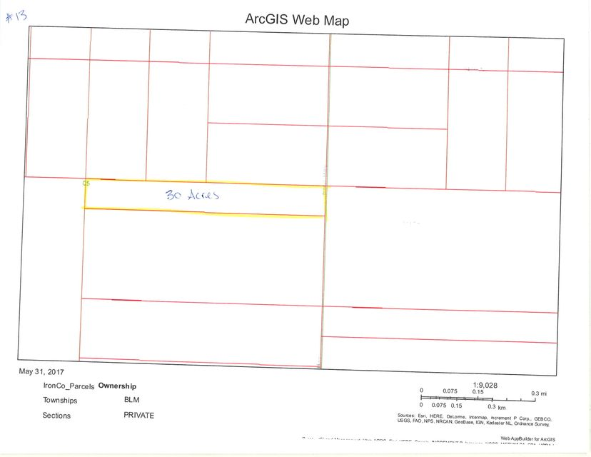 土地,用地 为 销售 在 30 acre T34S R16W 30 acre T34S R16W Beryl, 犹他州 84714 美国