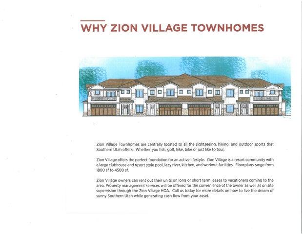 100 N Zion Village Bldg 1 Unit End Unit Option, Hurricane Ut 84737