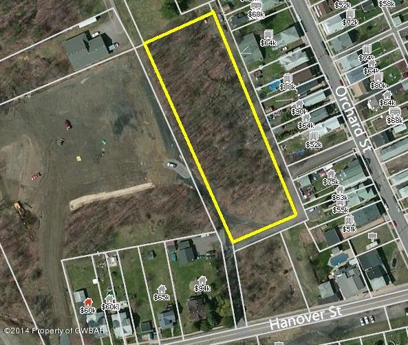 Lot 01B Rear Orchard Street Warrior Run,Pennsylvania 18706,Comm/ind sale,Rear Orchard Street,14-3917