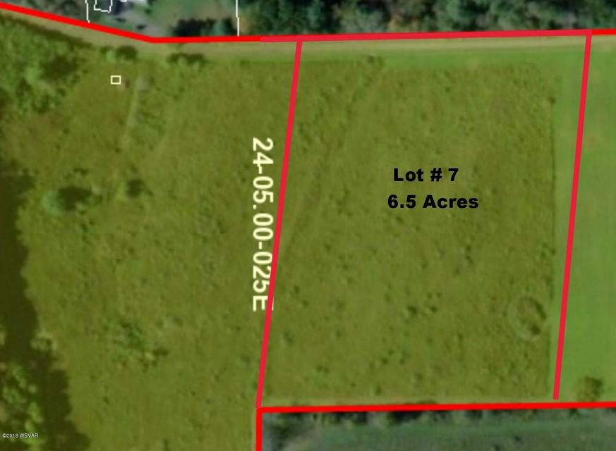 LOT 7 SWEET HOLLOW ROAD,Middlebury Center,PA 16935,Land,SWEET HOLLOW,WB-84639
