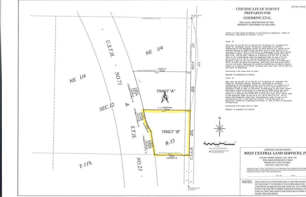 1220 County Rd 9,Willmar,Commercial Land,County Rd 9,6030675