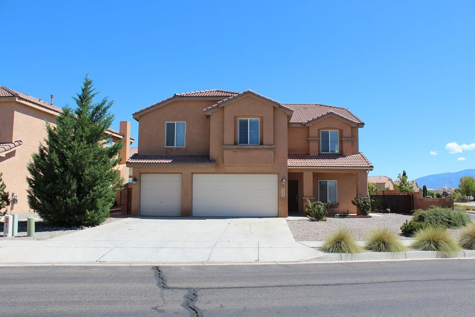 Reduced price!!You won't be disappointed in this  beautifully maintained Pulte-built home in the Corazon gated community at Cabezon. Popular Madrid floor plan, featuring: 5 large bedroom.  Grand master suite includes large walk-in closet, double sinks, garden tub, separate shower. 3 bathroom, Two living areas on main level plus loft upstairs. Eat-in kitchen with corian counter tops, cherry cabinets, kitchen island, pantry, stainless steel appliances. . Landscape backyard w/ covered and open patios, flower, fruit trees. Three car garage, corner lot. Home is within walking distance to elementary school, parks, walking trails, bike paths and community pool.  .