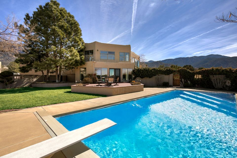 Impeccable Custom Home Located In The Beautiful Foothills Of The Sandia  Mountains. This Home Showcases
