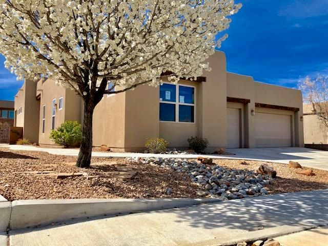 Lovely floor plan in Andalucia on a corner lot! Soaring ceilings, eat-in kitchen with island, granite counters, laminate and ceramic tile, garden tub in master bath, covered patio and so much more! Property sold in as is condition. No warranties expressed or implied. Please submit copy of approval letter/POF, earnest money with all offers.