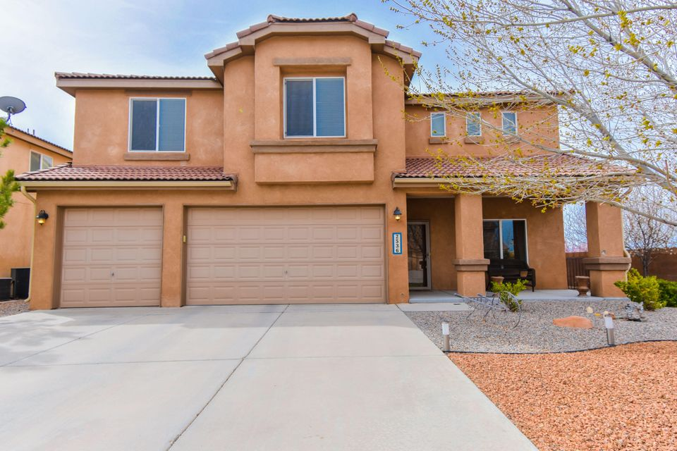 $4,000 Buyer incentive being offered with an acceptable offer! Stunning Pulte home located in the gated Corazon at Cabezon community! Home features 3,116sf with 4 bedrooms, 2.5 bathrooms, a huge loft and a 3-car garage! Beautiful front living area. Spaciously designed kitchen with upgraded maple cabinetry, solid surface countertops, stainless steel appliances, center prep island, a pantry and tile flooring. Convenient first floor office or guest room. Upstairs take advantage of the large loft that makes a perfect 2nd living area or play room. Beautiful master suite with plenty of space including his/hers closets and a private bath. Bath hosts a garden tub w/ marble surround, walk-in shower and dual sinks. Large corner lot with a covered patio with views from the backyard!