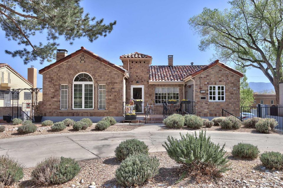The best of Ridgecrest...rests this Mediterranean Tuscan home with steps to parks and a green belt with towering trees.This home has been carefully preserved with modern comforts.Starting from the circular driveway and an old fashion oversized porch enter into the foyer to the dramatic living room with soaring high cove ceilings and the warmth of a fireplace.Additional rooms on main level include formal DR,2 BR's & a master with a fireplace,study,conservatory and kitchen designed for the gourmet cook. Gas cooktop,double oven, abundance of counter space,cabinets galore and serious built-ins.For the serious cook a wine cooler has been added.Lower level has 2 bedrooms/FR with fireplace and walks out to outdoor space.Pool, hot tub,gazebo and privacy. For the men it offers a garage with a